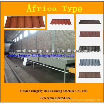 JCX stone coated tile machinery made in China