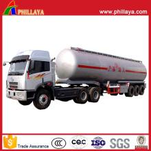 Réservoir de 25-60m3 Tanker Semi-remorque carburant en acier inoxydable