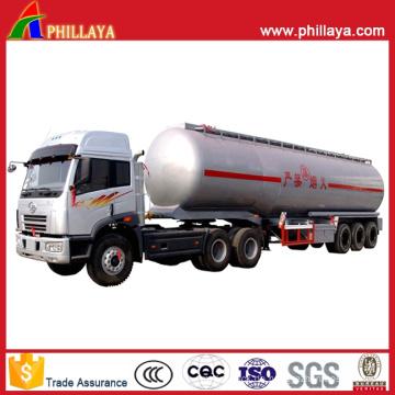 25-60m3 Tanker Semi Trailer Kraftstoff Edelstahl Tank