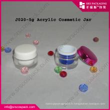 2014 Crème Natute Acrylique Jar Cosmétiques Emballage Ronde Vente en gros
