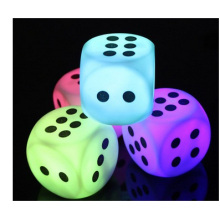 Promotional Night Club Bar, 7 Colour Rounded Dice Night Light
