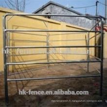 Clôture galvanisée imbriquée de cheval ou panneau de bétail ou panneau de chèvre avec la serrure et les parenthèses et les portes SGS a certifié