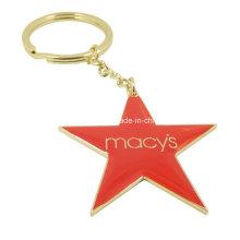 Stern-Schlüsselanhänger mit roter Epoxy-Kuppel
