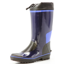 dark blue men's sweat-absorbent lining rubber boots