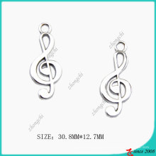 Liga de zinco Chrome Metal Music Charm (SPE)