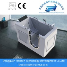 Bottom price for outward swing door tub Antiskid walk in bathtub for elder people supply to Spain Exporter