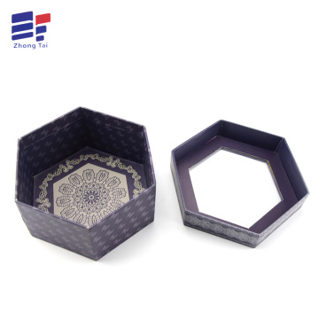 Hexagon paper window gift box