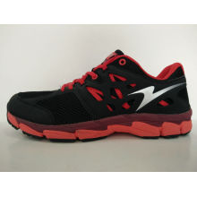 Men′s Black and White Mesh Casual Running Shoes