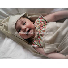 100% Kaschmir-Kapuzen-Babydecke 80 * 80cm