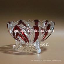 Louça de cristal pura, talheres de cristal, placa de cristal para frutas