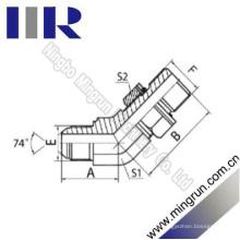 45 Winkelstück-männlicher / metrischer männlicher hydraulischer Rohr-Adapter (1JH4-OG)