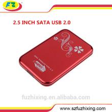 Caja de disco duro USB 3.0 SATA 2.5 Caja de HDD externa Caja de disco duro de aluminio
