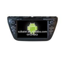 Quad lecteur DVD de voiture de base avec gps, wifi, BT, lien miroir, DVR, SWC pour Suzuki 2013 SX4
