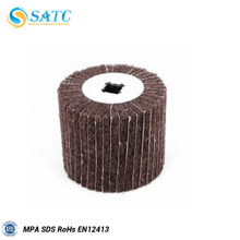 30x25 non-woven flap wheel with shank for metal and wood
