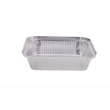 Deep rectangular full curl Aluminum Foil Container