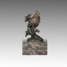 Animal Bird Statue Red Birdle and Branch Bronze Sculpture, Milo Tpal-282 (B)