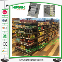 Prateleira de armazenamento frente e verso econômica da gôndola do supermercado