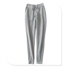 Женская 100% кашемира вязать гетры свободного покроя брюки с поясом