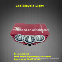 High Brightness 2500LM Waterproof Design Cree xm-l2 led bicycle lights rechargeable