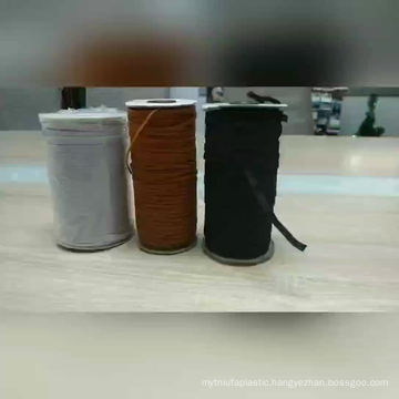 In stock White / Black Durable High Elasticity Flat 3mm Elastic band
