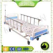 CE&ISO adjustable 3 cranks manual hospital bed