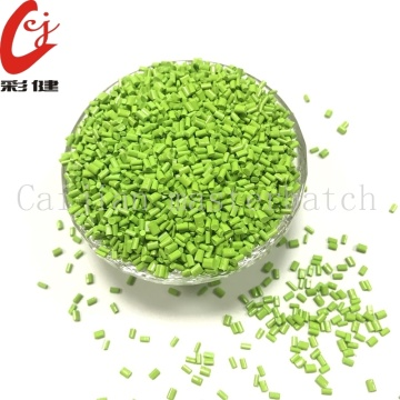 Kaca Green Color Masterbatch Granules