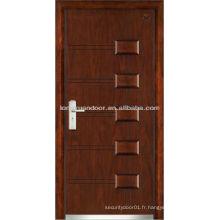 Portes de sécurité d'entrée, portes blindées en bois d'acier de qualité
