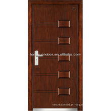 Portas de segurança de entrada, portas blindadas de madeira de aço de qualidade