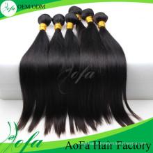 Extension de cheveux humains Remy de cheveux vierges de qualité Aofa 7A