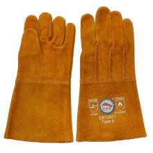 Lange Kuh Split Leder Schweißen Hand Schutzhandschuhe aus Gaozhou Factory, China