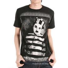 Lustiges Siebdruck-Entwurfs-Großhandelskundenspezifisches Mann-T-Shirt
