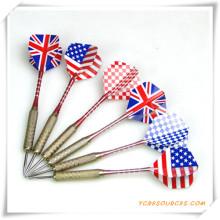 Dardos de dardo de ponta de agulha de aço com bandeira nacional para promoção