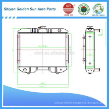 Radiateur agricole du Myanmar de la fabrication de Shiyan en Chine.