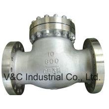 Válvula de retención de balanceo de brida de acero inoxidable