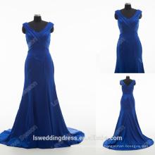 RP0167 Sexy real aliexpress vestido formal fora ombre sereia chão comprimento azul marinho vestido de noite alta qualidade alibaba vestidos