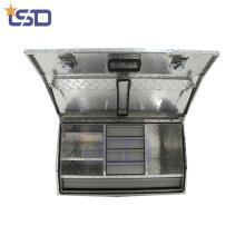 Boîtes en aluminium adaptées aux besoins du client de camion avec le tiroir Boîtes en aluminium adaptées aux besoins du client de camion avec le tiroir
