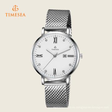 Reloj de señora de moda con banda de malla 71135