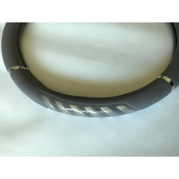 steering wheel cover with silver bar
