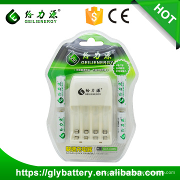 GLE-805 Automatic Battery Charger 12V For AA AAA Ni-cd Ni-mh Battery Made In China