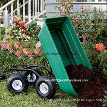 Garden Dump Cart with Plastic Tray
