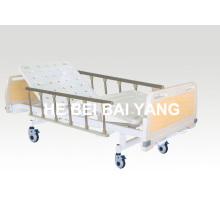 A-79 Cama de hospital manual de doble función móvil