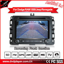 Android 5.1 / 1.6 GHz Car DVD GPS para Dodge RAM 1500 Car Audio Player con conexión WiFi Hualingan