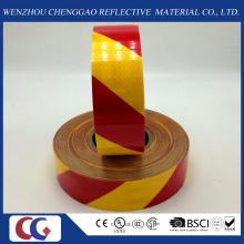 Красный и желтый саржа ПЭТ высокой интенсивности Светоотражающая лента