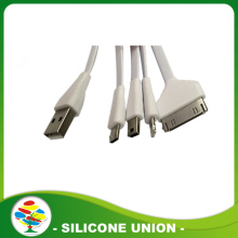 Wholesale colorful silicone flat usb data charging cable