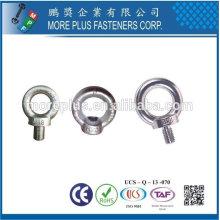 Taiwan Edelstahl 18-8 verchromter Stahl vernickelter Stahl Hakenaugenschrauben DIN 444 Augenschraube DIN 580 Hebeösenschraube