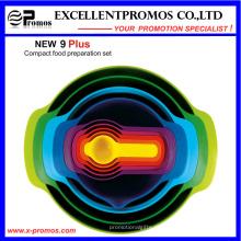 9PCS de alta qualidade coloridas ferramentas de cozimento de bolos ecológico (EP-LK57271)