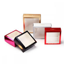 Custom Skincare Packing Tuck Box with Clear Window