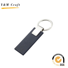 Classical Blank Metal PU Leather Key Ring with Good Price