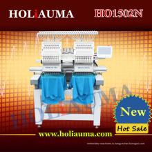 Лучшие две головы 15 цветов вышивальная машина для нескольких функций Cap/Т-маечка/плоская одежды/полотенце/3D вышивка
