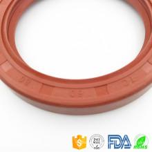 Anel de vedação de óleo de silicone de material de borracha de alta qualidade Selo de óleo genuíno de caixa de velocidades de vedação de óleo padrão do rolamento de eixo hidráulico